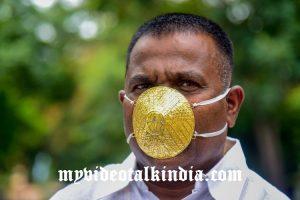 Viral Video Lelaki India Mengenakan Masker Emas
