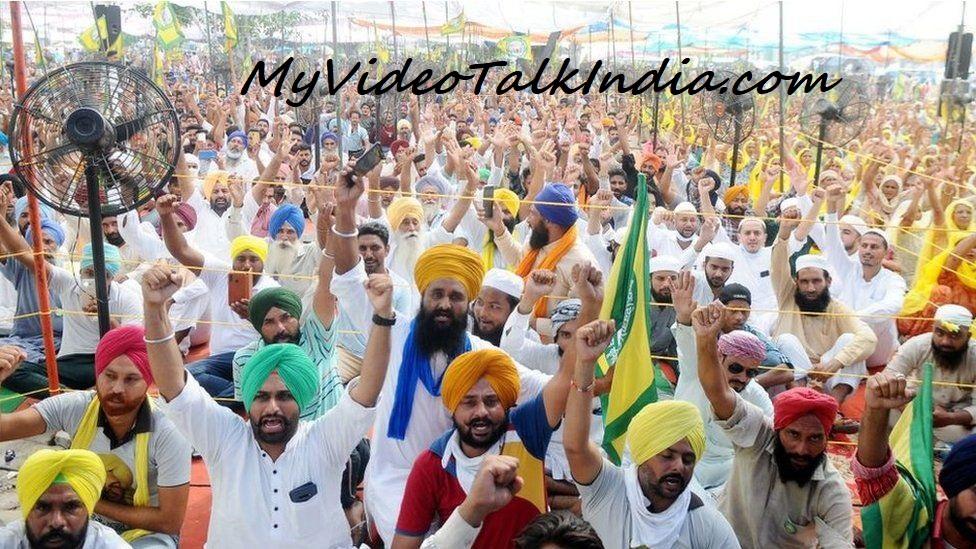 Video Protes Petani India Mendukung Perusahaan Swasta Ke Pertanian