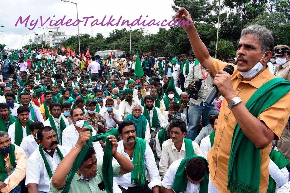 Video Protes Petani India Terkait Aspirasinya Menentang Kebijakan Pro Taipan